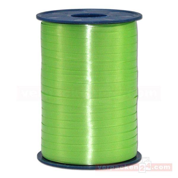 Glanzband auf Rolle 500 mtr., 5 mm - maigrün (630)