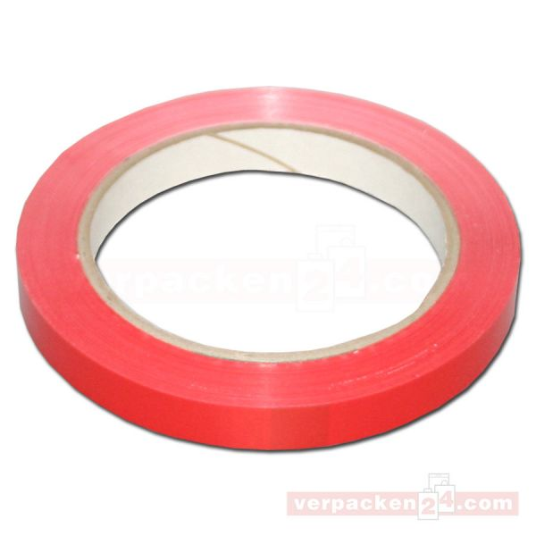 Klebeband (PVC), farbig, rot, Rolle 66 m - 12 mm