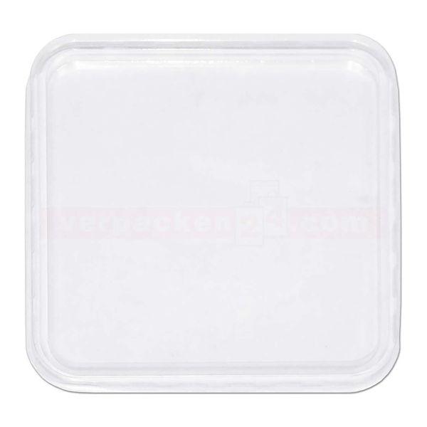 Verpackungsbecher NP eckig - Deckel - Polystyrol klar - Nr. 270