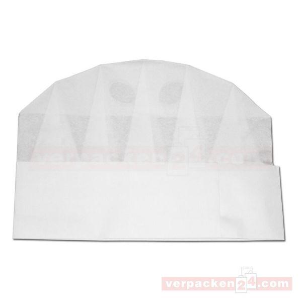 Einweg-Kochmütze weiß - Papier - (Packung = 10 Kochmützen)