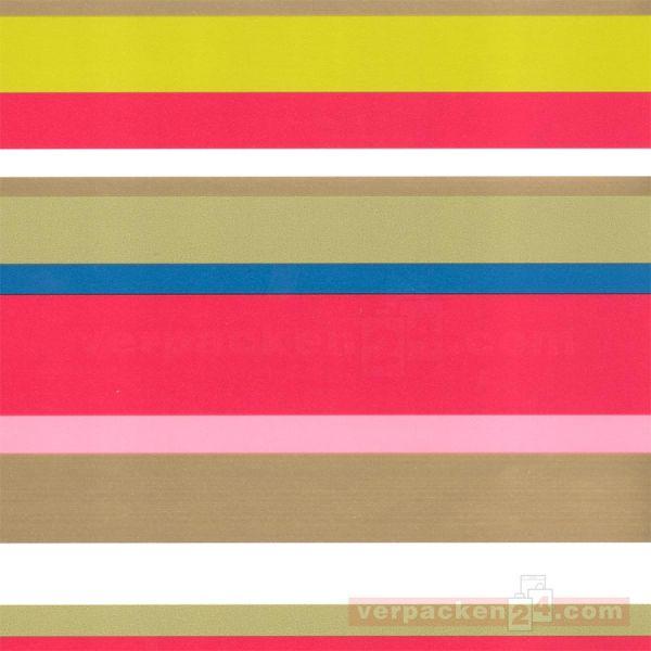 Geschenkpapier, neutral St 979799, Rolle 50 cm - Streifen matt