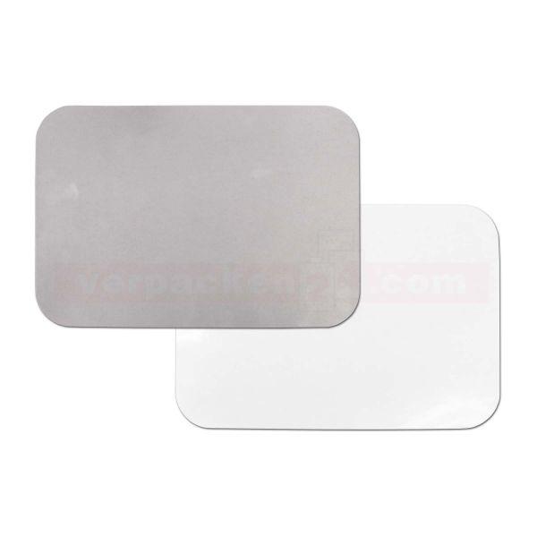 Käsetablett - Deckel für Aluschalen, Karton PE/Alu - 207x141mm