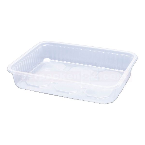 Verpackungsschale KR eckig - Becher - PP glasklar - Salatschale