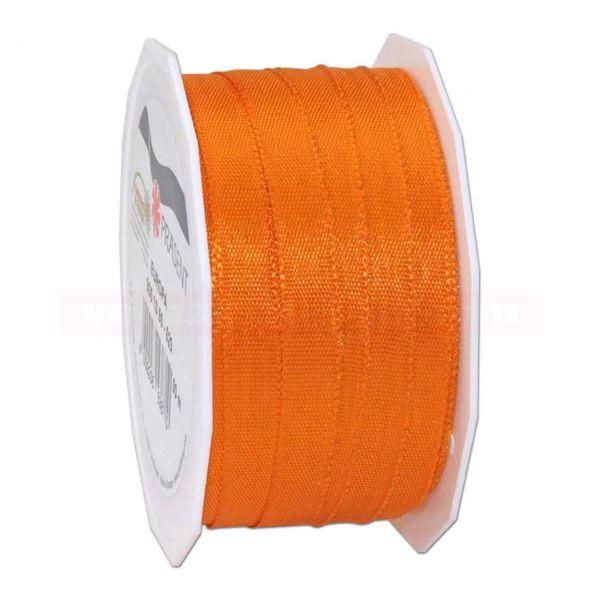 Seidenband - Europa - Rolle 50 m, 10 mm - orange (620)