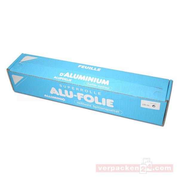 Alufolie auf Rollen, in Spender-Box - 45 cm - 150 m - stark 18µ