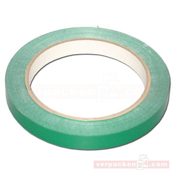 Klebeband (PVC), farbig, grün, Rolle 66 m - 12 mm