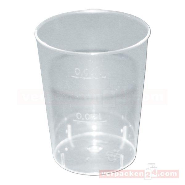 Spritzguß - Schnapsglas, klar - 20/40 ccm
