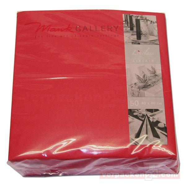 Servietten aus Airlaid farbig, 40x40 cm - 1/4 Falz - rot