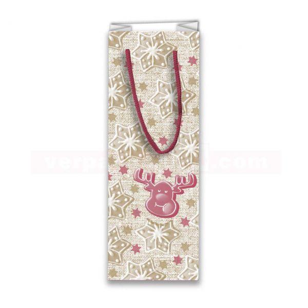 Weihnachts-Flaschentaschen Exclusiv - Einfach zum Anbeißen 13+ 9x36cm
