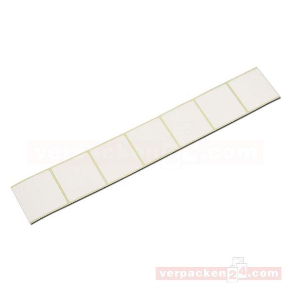 Haftetiketten, weiß - 37 x 36 mm