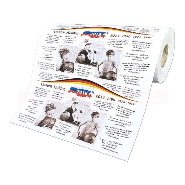 Einschlagpapier, weiß Kraft, Unsere Helden Fußballmotiv - 50 cm