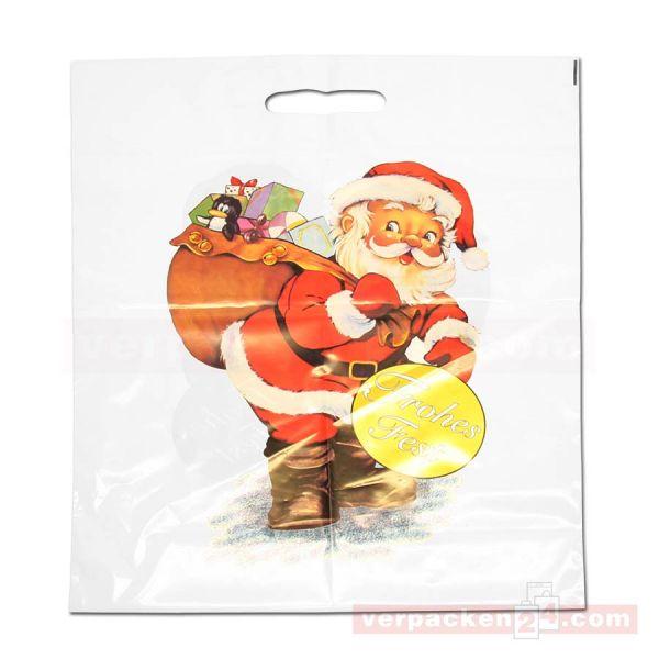 Weihnachts-Polytragetaschen - Frohes Fest - 37x45+5 cm