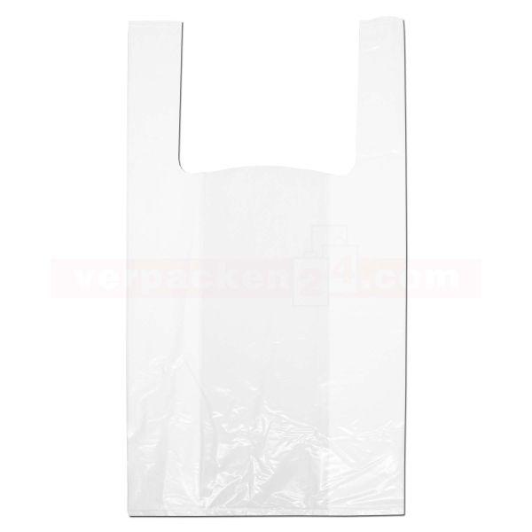LDPE-Hemdchentaschen, weiße Folie, Seitenfalte