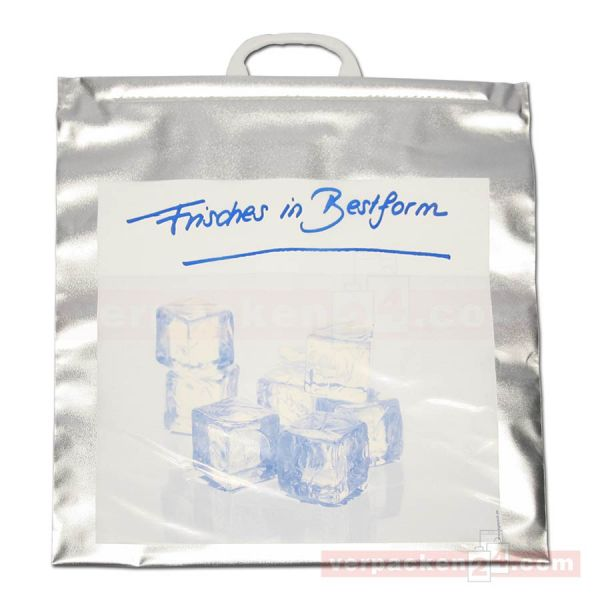 Tiefkühl Polytragetasche silber, Alu - Bestform - 44x45 cm