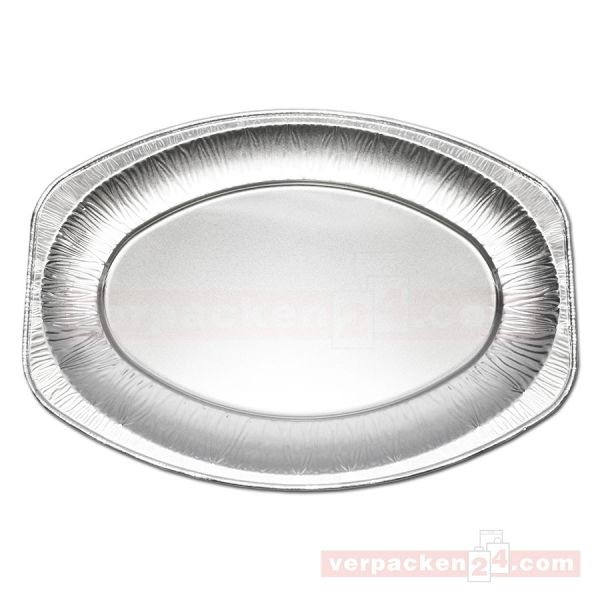 Alu-Servierplatten silber, oval - 333x233x25 mm