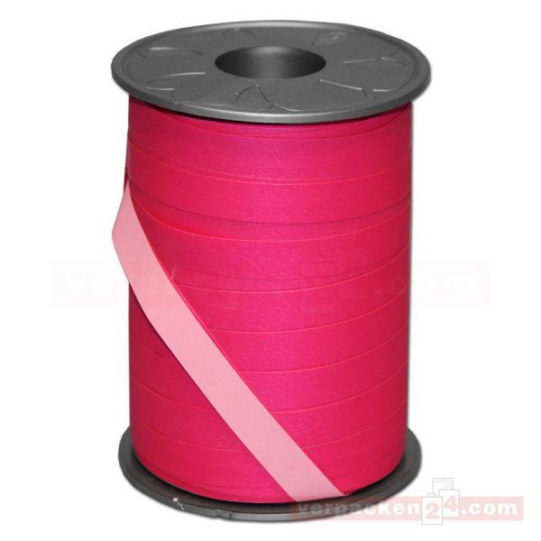 Geschenkband auf Rolle - BICOLOUR 200 mtr., 10 mm - pink/rosa