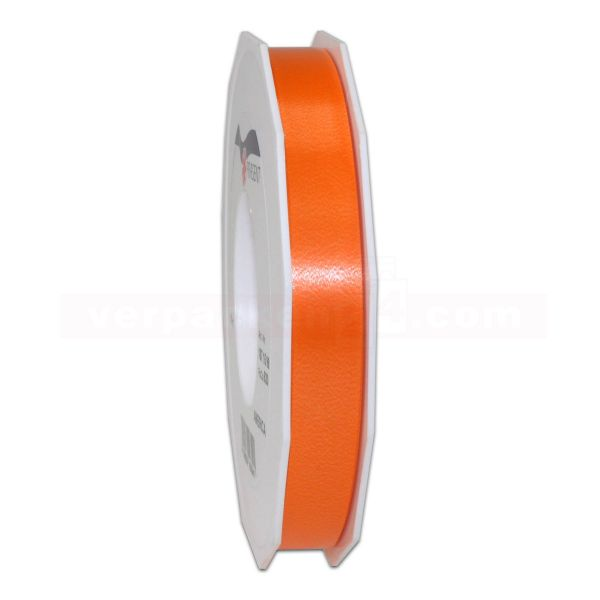 Glanzband auf Rolle 091 mtr., 15 mm - orange (620)