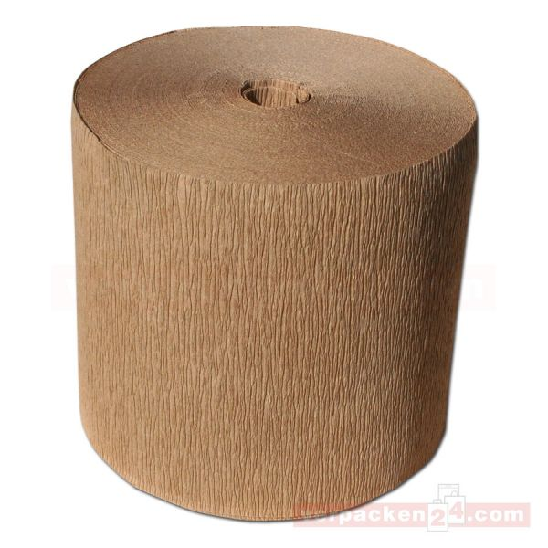 Wickelkrepp, braun 120 g/m² - Rolle - 10 cm - 5 Rollen