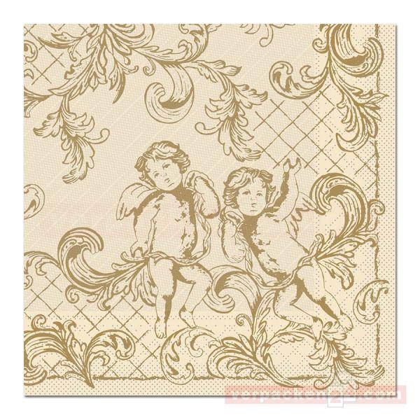 Servietten Tissue Xmas, 40x40 cm - 1/4 Falz, Gabriel - creme