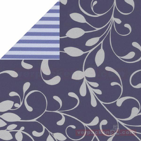 Geschenkpapier, neutral St 973409, Rolle 50 cm - Ranke blau