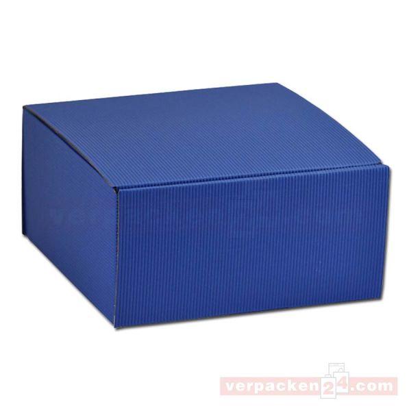 Geschenkkartons - Allround Blau - offene Welle