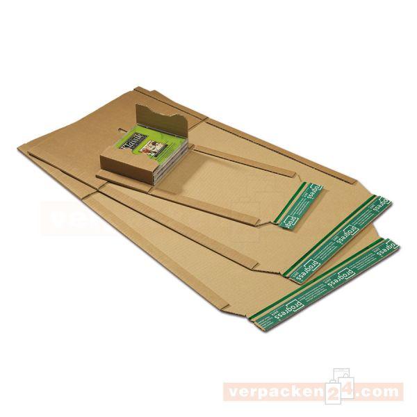Buchverpackung Wellpappe braun, zum Wickeln