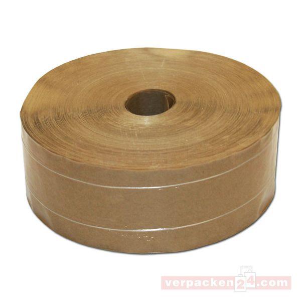Natron-Klebeband, braun 60 g, nassklebend - (KF2) 60 mm