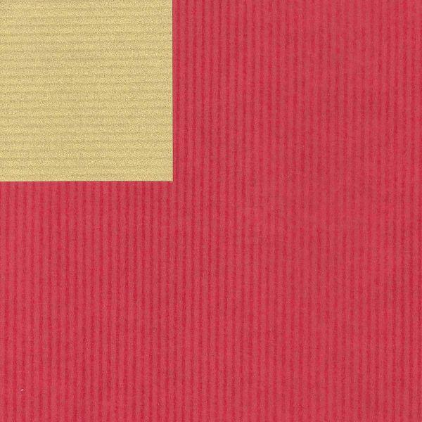 Geschenkpapier, neutral St 36151, Kurzrolle 50 cm - rot/gold