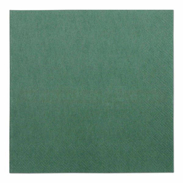 Tissue-Servietten farbig, 3-lagig, 33x33cm - 1/4 Falz - dunkelgrün
