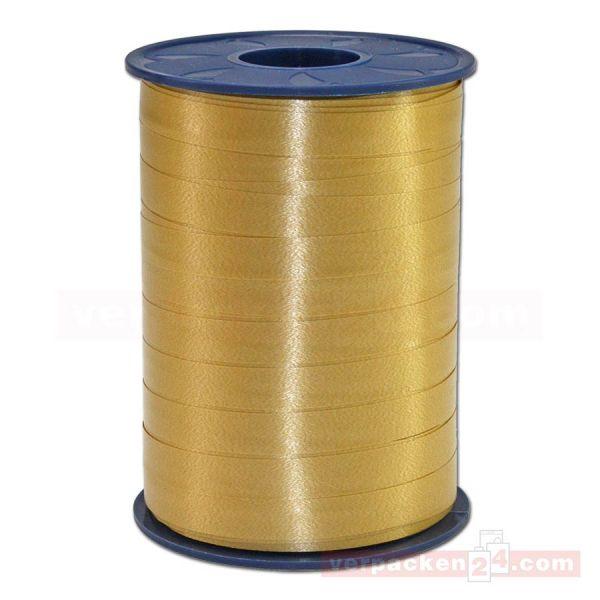 Glanzband auf Rolle 250 mtr., 9 mm - gold (634)