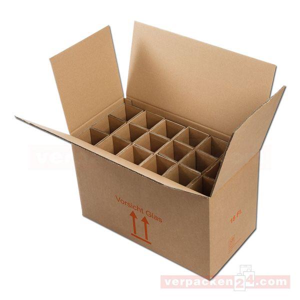 Flaschenversandkarton, 18 Flaschen - Versandverpackung PTZ