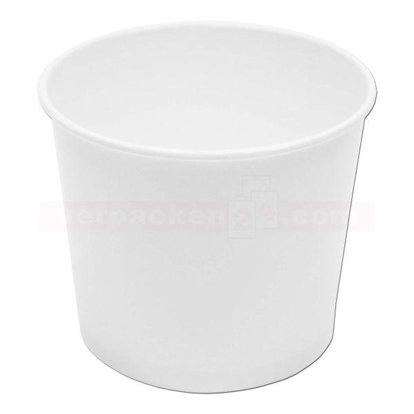 Eisbecher aus Hartpapier, weiß - unbeschichtet - 750 ccm