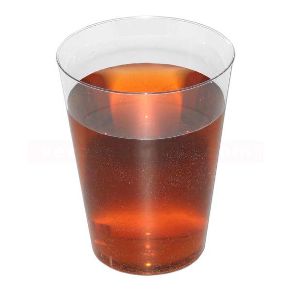 Spritzguß - Trinkglas, glasklar, Eichstrich