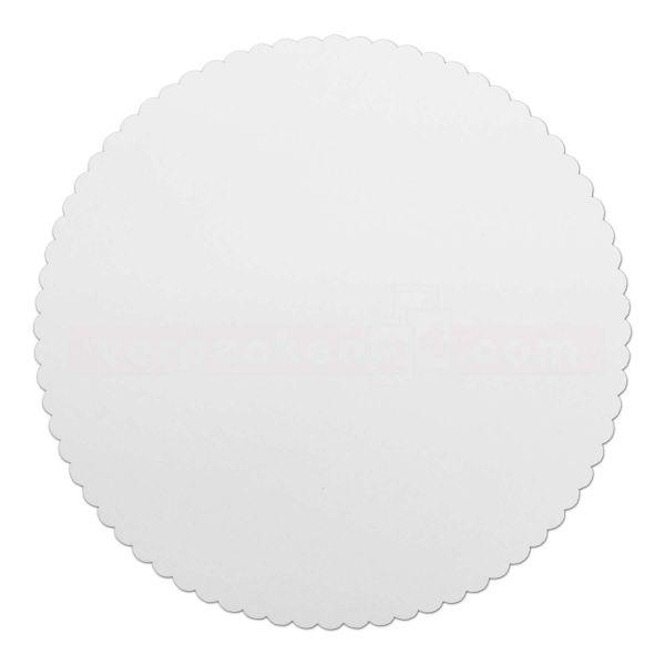 Tortenscheiben beschichtet, weiß - rund 28 cm, gezackt