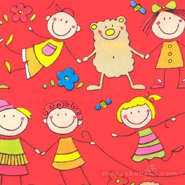 Geschenkpapier Kinder, neutral W 40210, Rolle 50 cm, Kindermotiv