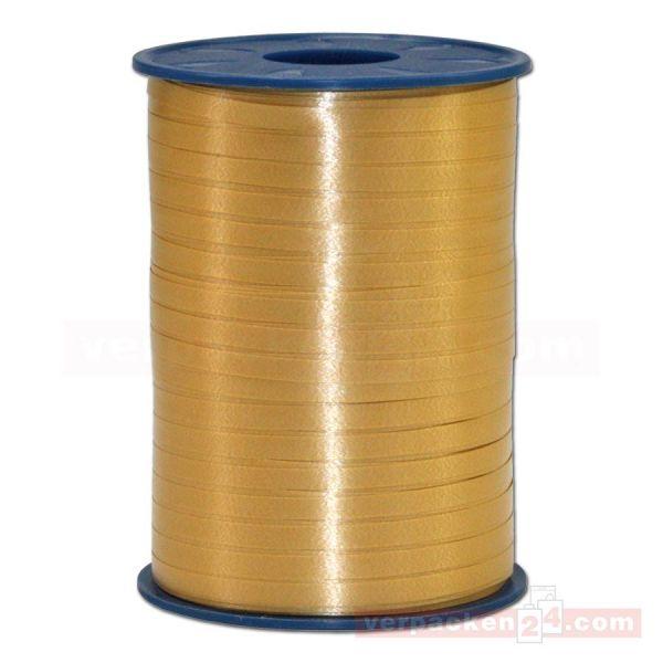 Glanzband auf Rolle 500 mtr., 5 mm - gold (634)