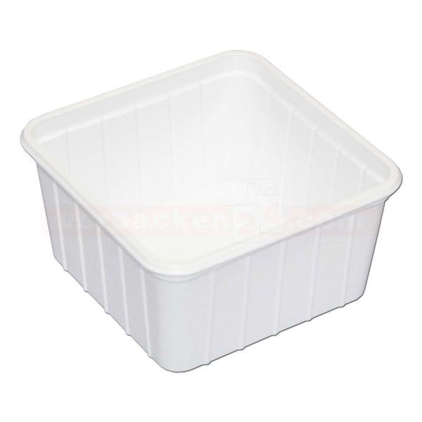 Verpackungsbecher NP eckig - Becher - Polystyrol weiß - 500g