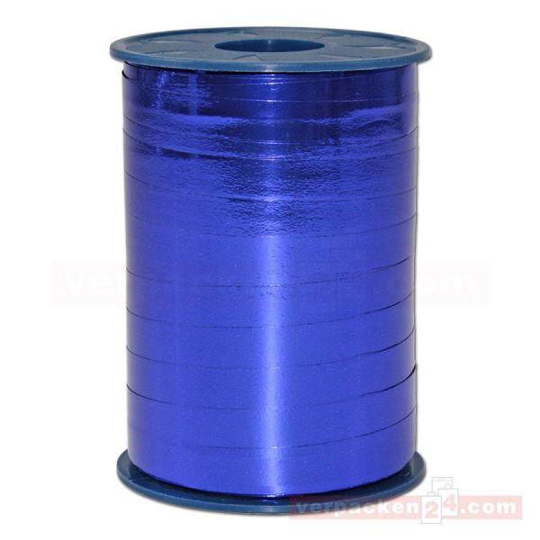 Glanzband metallisiert - 10 mm - Rolle 250 m - blau (614)