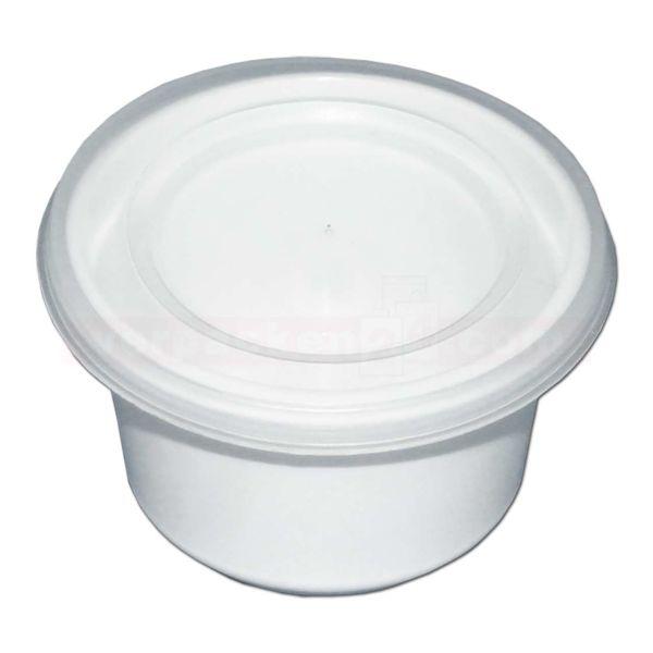 Butterdose weiß, inkl. Deckel klar - 30 ccm