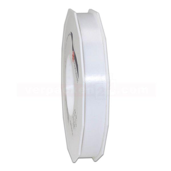 Glanzband auf Rolle 091 mtr., 15 mm - weiß (601)
