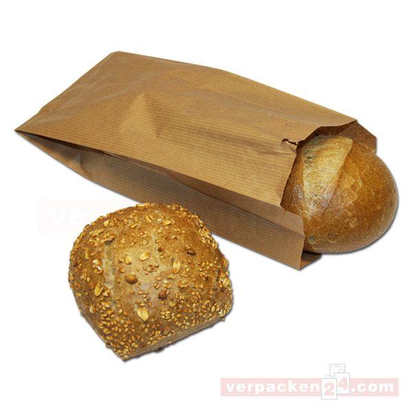 Bäckerfaltenbeutel - braun Natron, unbedruckt
