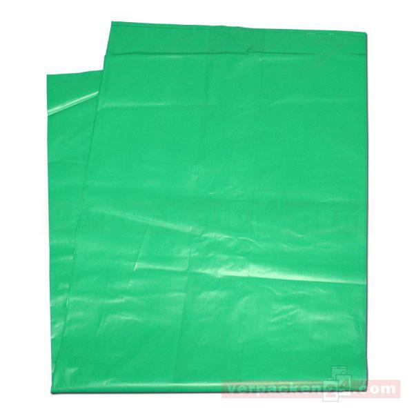HT-Seitenfaltensäcke, grün - 51+36x128 cm - 50µ - lose