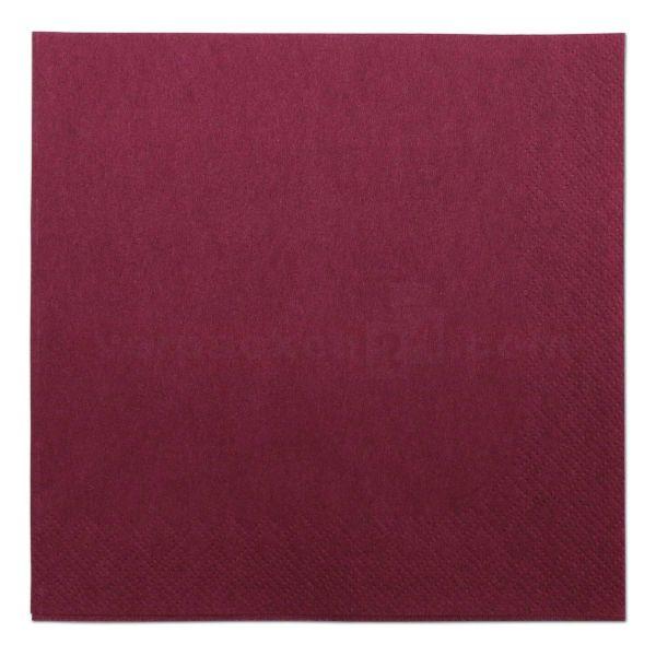 Tissue-Servietten farbig, 3-lagig, 33x33cm - 1/4 Falz - bordeaux