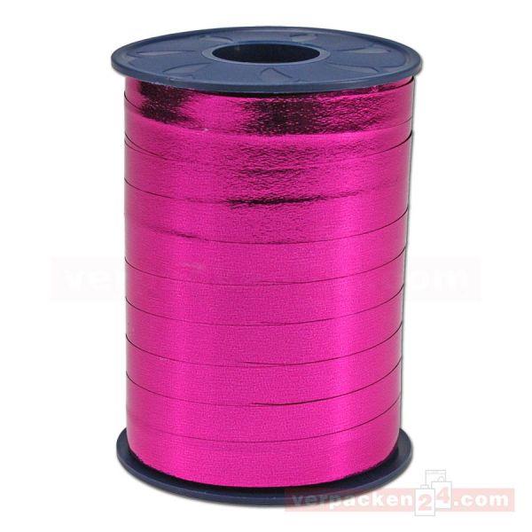 Glanzband metallisiert - 8 mm - Rolle 250 m - pink (606)
