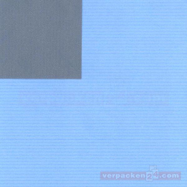 Geschenkpapier, neutral St 37009, Roll 50 cm - hellblau/grün