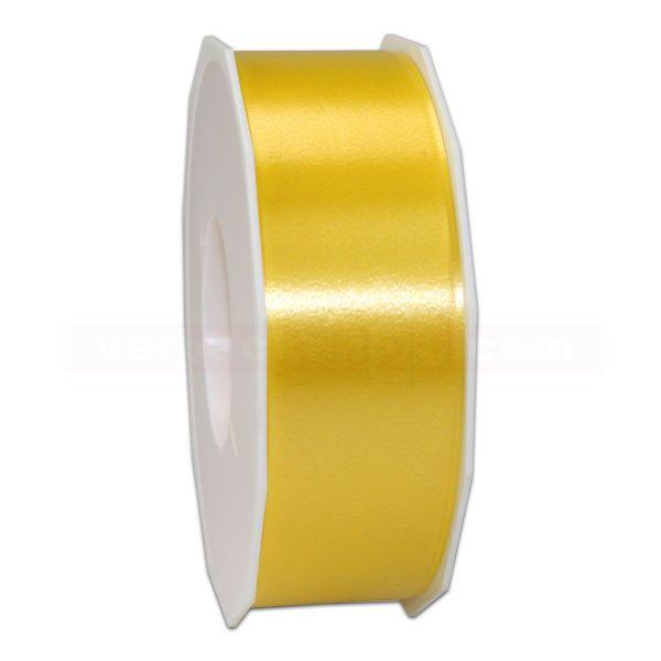Glanzband auf Rolle 091 mtr., 40 mm - gelb (605)