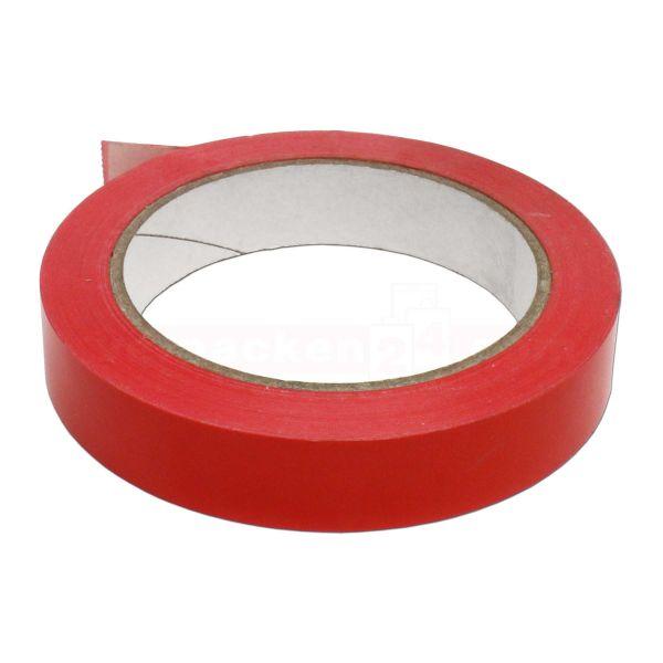 Packband PVC, rot - Klebefilm - Rolle 19 mm / 66 m