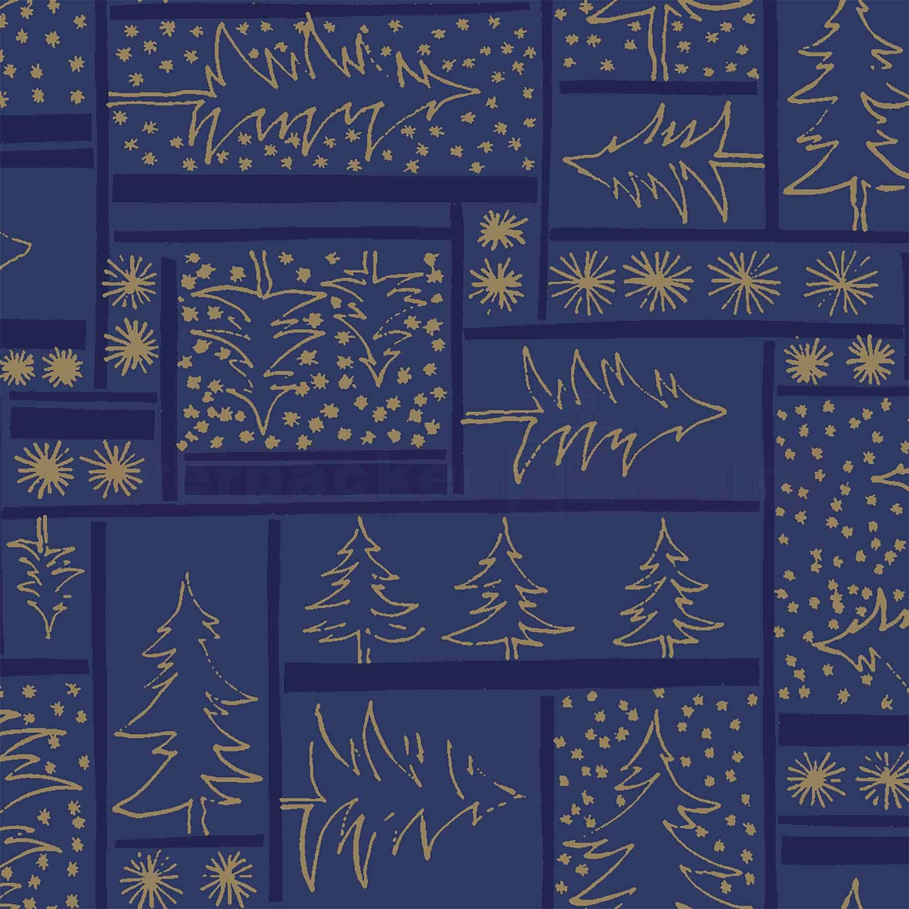 Geschenkpapier Weihnachten.Weihnachts Geschenkpapier W 59710 Rolle 50cm Tannenbaummuster