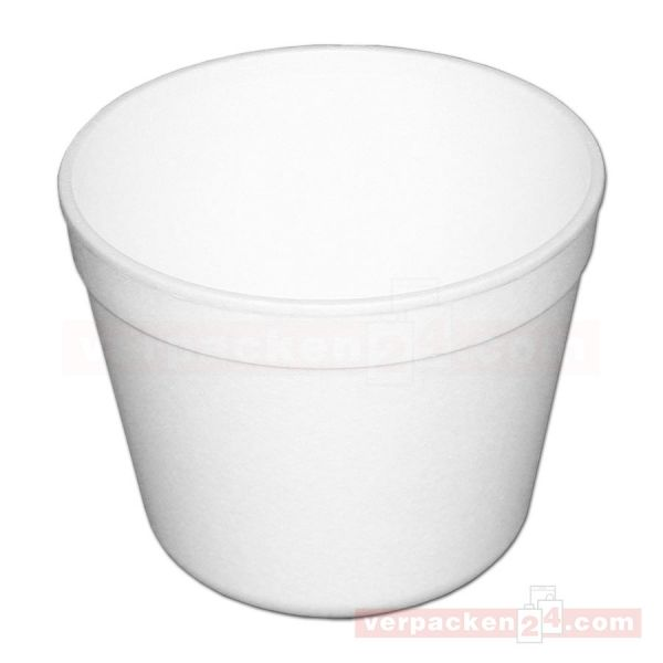 Thermo-Becher, EPS weiß geschäumt - 460 ccm - ideal für Suppen