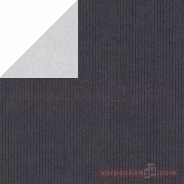 Geschenkpapier, neutral St 983326, Rolle 50 cm - schwarz/silber